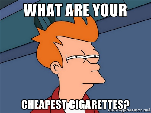 what are your cheapest cigarettes
